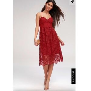 Lulus red lace dress
